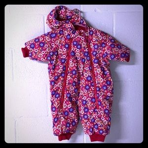 Hanna Andersson 70 snow suit 1 piece infant girl